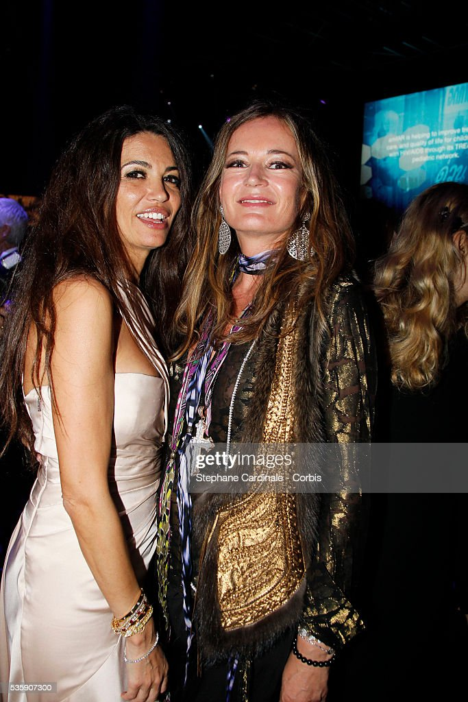 Afef Jnifen and guest attend the '2010 amfAR's Cinema Against AIDS Gala'