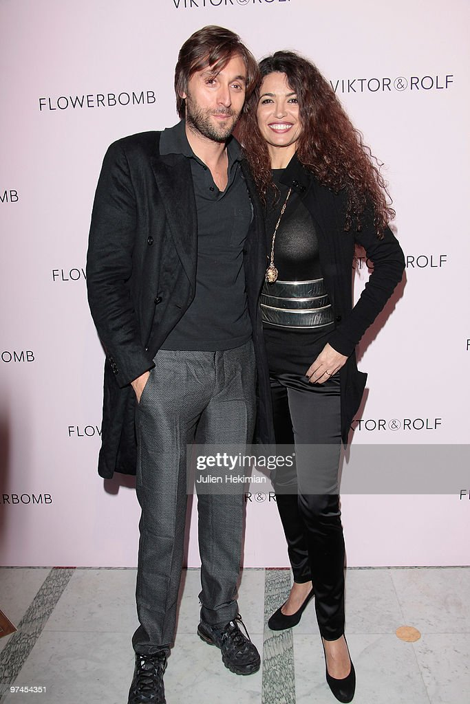 Afef Jnifen (R) and guest attend the Victor & Rolf 'Flower Bomb' 5th Anniversary Party at Hotel Meurice on March 4, 2010 in Paris, France.