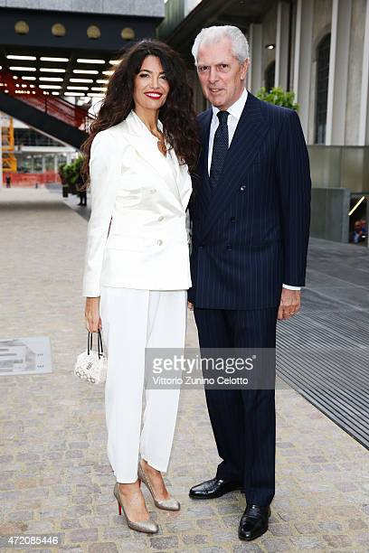 Afef Jnifen and Marco Tronchetti Provera attend the Fondazione Prada Opening on May 3 2015 in Milan Italy