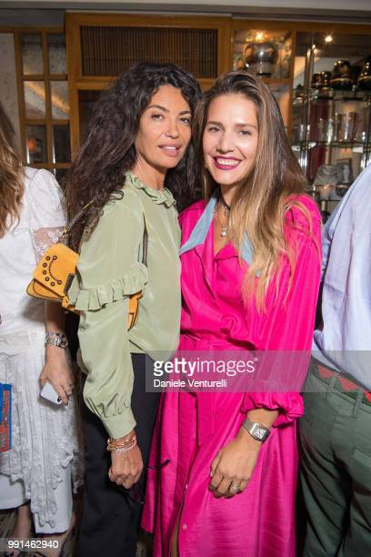 Afef Jnifen and Margherita Missoni attend Ximena Kavalekas and Margherita Missoni Lunch In Paris During Haute Couture on July 4 2018 in Paris France