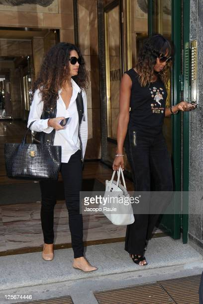 Afef Jnifen and Naomi Campbell are seen on September 20 2011 in Milan Italy