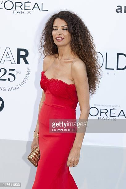 Afef Jnifen arrives at amfAR's Cinema Against AIDS Gala 2011 at Hotel Du Cap on May 19 2011 in Antibes France