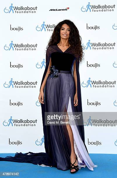 Afef Jnifen at the inaugural Walkabout Foundation gala drinks by Boujis London at Natural History Museum on June 27 2015 in London England