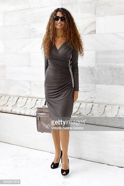Afef Jnifen attend the Roberto Cavalli Spring/Summer 2011 fashion show during Milan Fashion Week Womenswear on September 27 2010 in Milan Italy