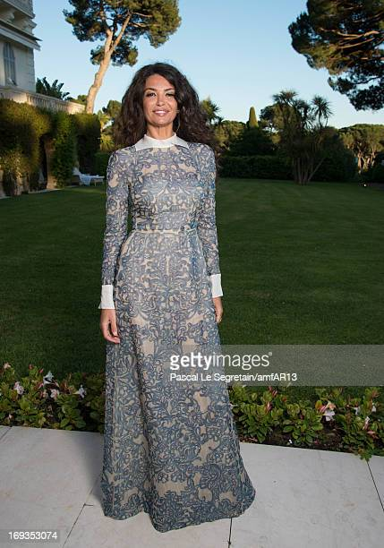 Afef Jnifen attends amfAR's 20th Annual Cinema Against AIDS during The 66th Annual Cannes Film Festival at Hotel du CapEdenRoc on May 23 2013 in Cap...
