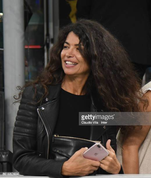 Afef Jnifen attends during the Serie A match between FC Internazionale and AC Milan at Stadio Giuseppe Meazza on October 15 2017 in Milan Italy