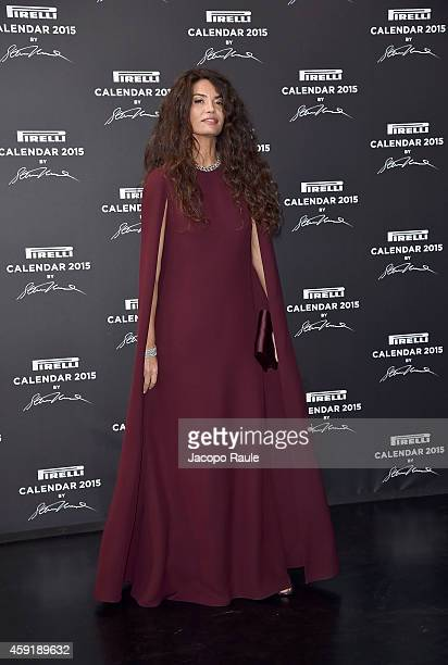Afef Jnifen attends the 2015 Pirelli Calendar Red Carpet on November 18 2014 in Milan Italy