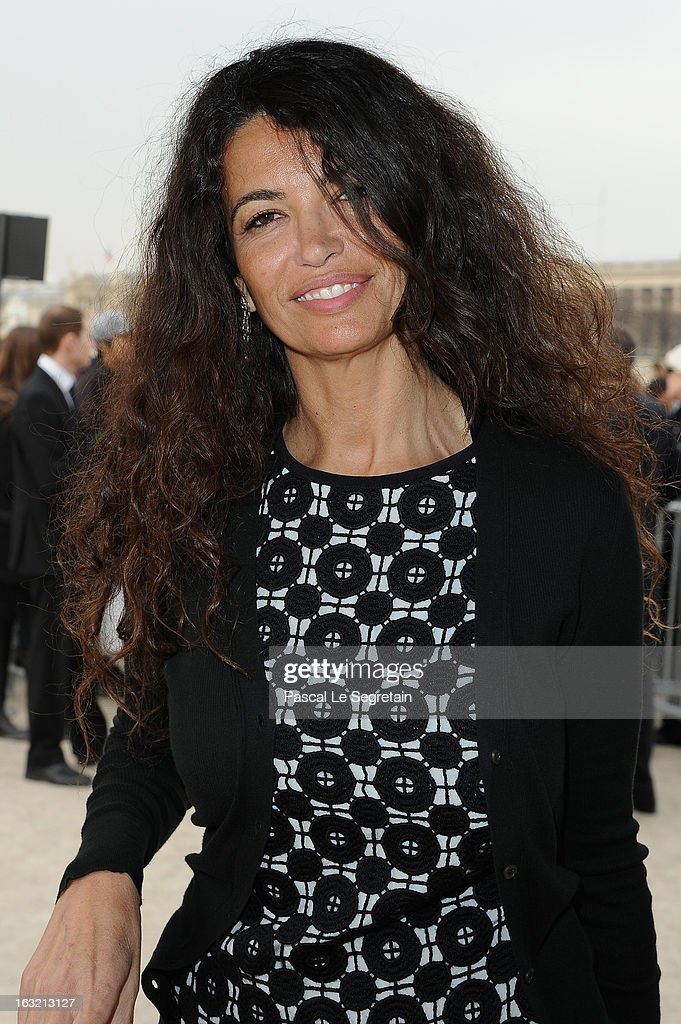 Afef Jnifen attends the Elie Saab Fall/Winter 2013 Ready-to-Wear show as part of Paris Fashion Week on March 6, 2013 in Paris, France.