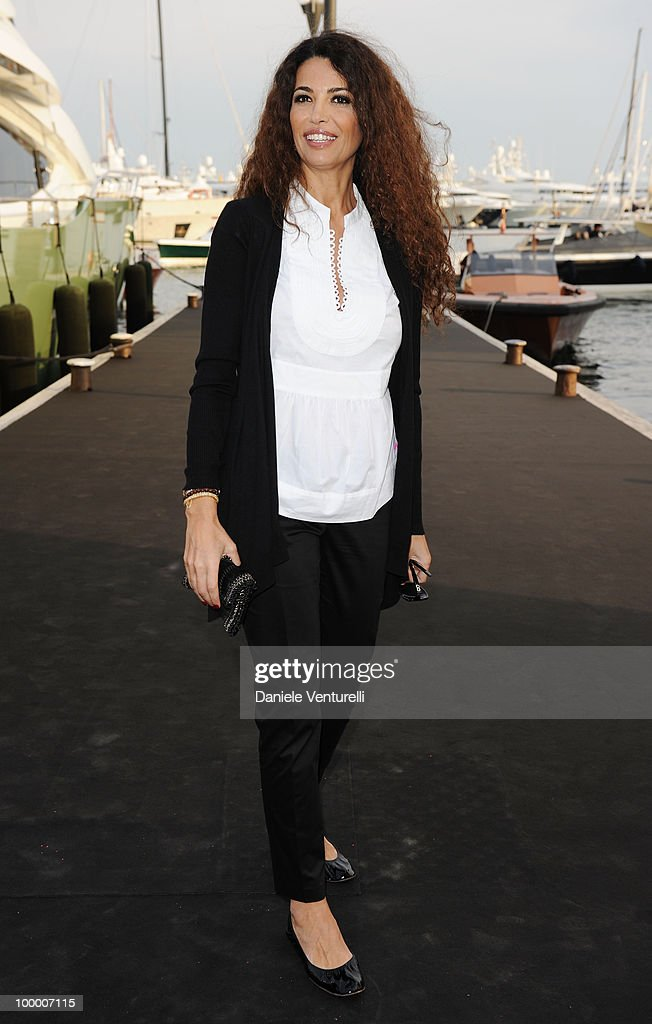 Afef Jnifen attends the Fair Game Cocktail Party hosted by Giorgio Armani held aboard his boat 'Main' during the 63rd Annual International Cannes Film Festival on May 19, 2010 in Cannes, France.