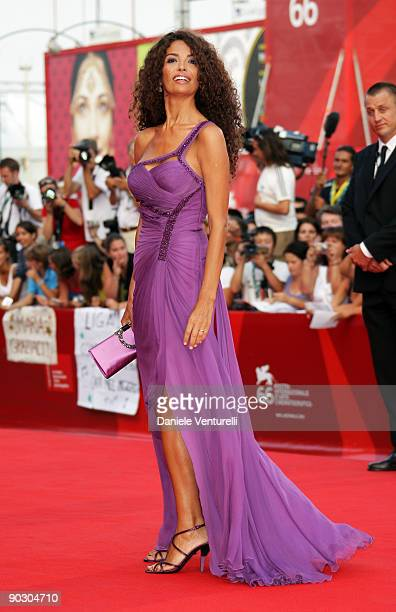 Afef Jnifen attends the Opening Ceremony and Baaria Premiere at the Sala Grande during the 66th Venice International Film Festival on September 2...