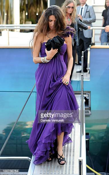 Afef Jnifen departs for Naomi Campbell's birthday party during the 63rd Annual International Cannes Film Festival on May 22 2010 in Cannes France
