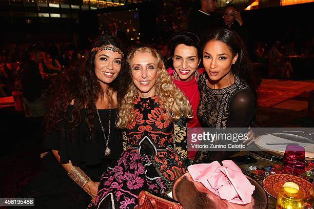 Afef Jnifen Franca Sozzani Farida Khelfa and Ciara attend the Gala Event during the Vogue Fashion Dubai Experience on October 31 2014 in Dubai United...