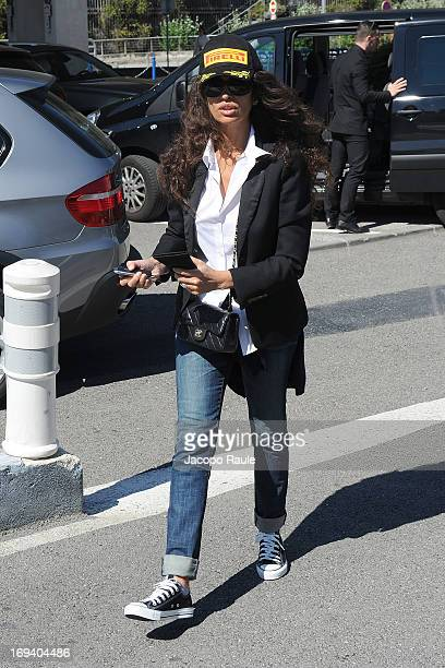 Afef Jnifen is seen arriving at Nice airport during The 66th Annual Cannes Film Festival>> on May 24 2013 in Nice France