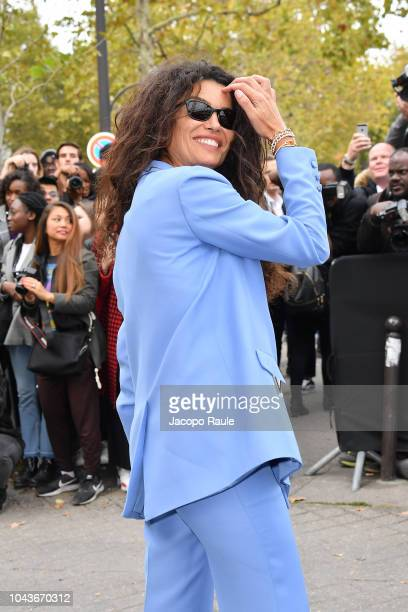 Afef Jnifen is seen arriving at Valentino fashion show during Paris Fashion Week Womenswear Spring/Summer 2019 on September 30 2018 in Paris France