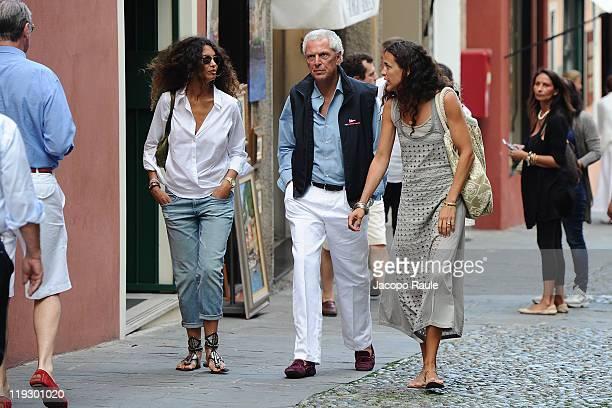 Afef Jnifen Marco Tronchetti Provera and Ilaria Trochetti Provera are seen on July 16 2011 in Portofino Italy