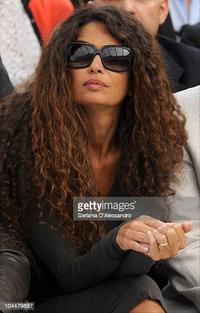 Afef Knifen attends the Roberto Cavalli Fashion Show as part of Milan Fashion Week Womenswear S/S 2011 on September 27 2010 in Milan Italy
