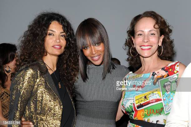 Afef Tronchetti Provera Naomi Campbell and Andrea Dellal attends the 'W Magazine AND Cartier Foundation Honoring Beatriz Milahes' on November 30 2011...