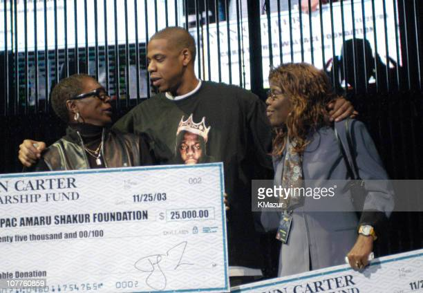 Afeni Shakur mother of Tupac Shakur JayZ and Voletta Wallace mother of Notorious BIG