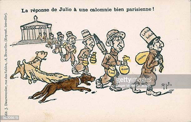 Affair Dreyfus AntiSemitic caricature By Julio About 1900