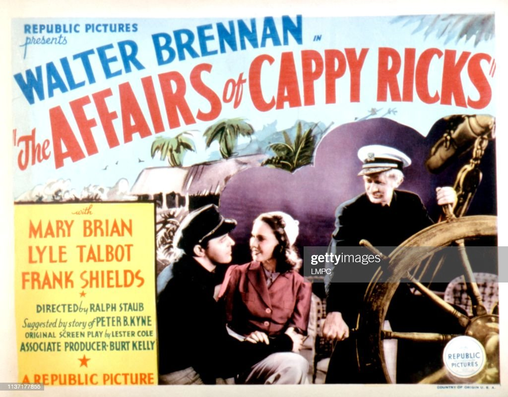 Image result for The Affairs of Cappy Ricks 1937 poster