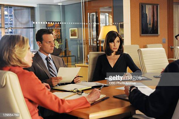 Affairs of State Alicia Will and Diane discuss the case against their client a Taiwanese national accused of murder on THE GOOD WIFE Sunday Oct 30 on...