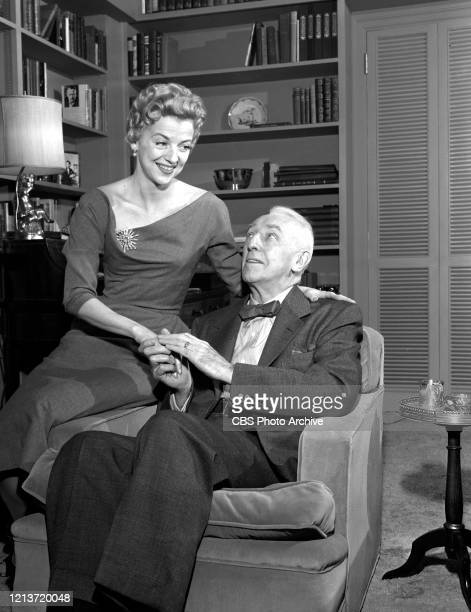 """Affairs of State,' Betty Furness and Walter Hampden on the CBS television network series, """"Studio One."""" Aired April 18, 1955."""