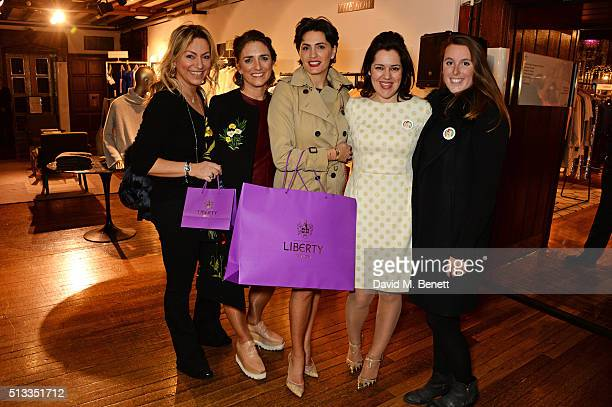 Affe Adel Carolina Manhusen Schwab Jessica Pires Emma France and Annabelle McGregor attend the Liberty x mothers2mothers charity event at Liberty on...