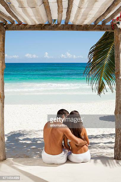 Affectionate couple at the beach