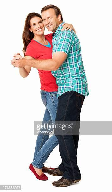 Zärtlich Paar mit einem Dance-isoliert