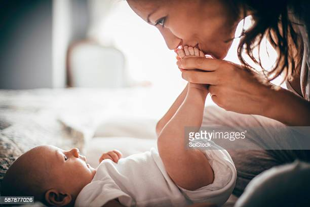 affectionate mother - daughter photos stock photos and pictures
