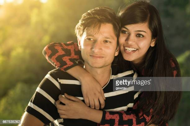 Affectionate multiethnic young couple.