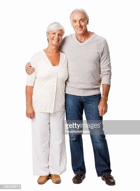 Affectionate Senior Couple Smiling - Isolated