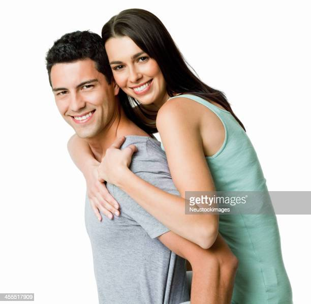 Affectionate Young Couple - Isolated