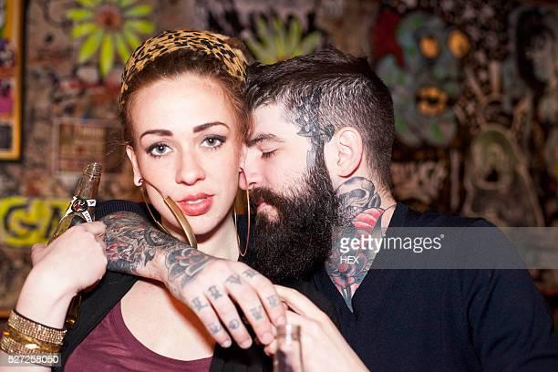 affectionate young couple - vriendje stockfoto's en -beelden