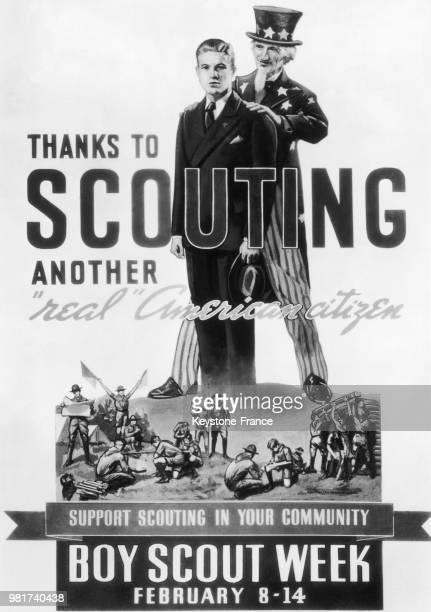 Affiche célébrant le 29ème anniversaire du mouvement scout américain
