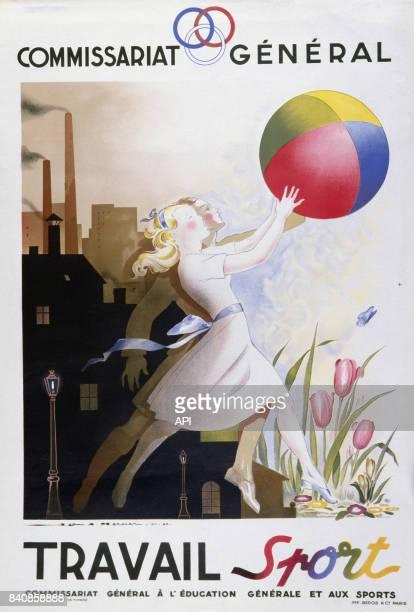 Affiche de propagande du commissariat général à l'éducation et au sport du régime de Vichy France