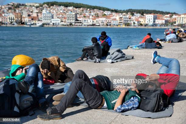 Afghan asylumseekers sleep at the port while they wait to get a ship that will take them to Athens In 2015 more than a million immigrants arrived in...