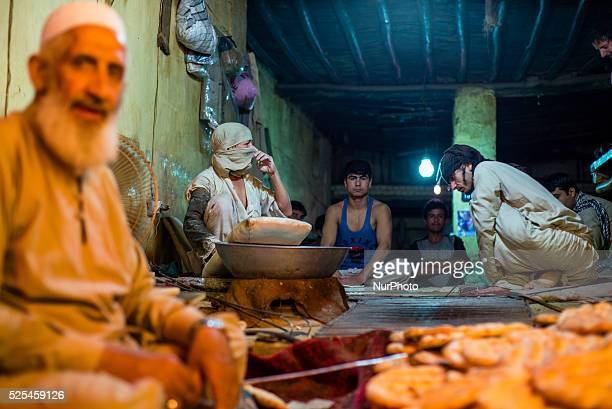 Afghan bakery on 24th October 2014 in Shahre Naw at biggest vegetable market in Kabul Afghanistan An ancient city of art and tradition and the...