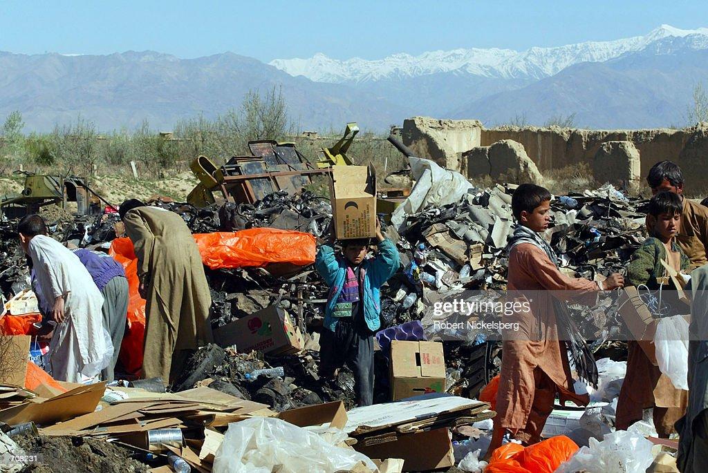 Landfill At U.S. Army Base Near Bagram : News Photo