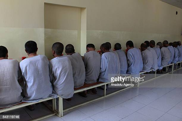 Afghan drug addicts have a meal in Jangalak hospital and shelter for drug addicts in Kabul Afghanistan on June 26 2016 In December 1987 the UN...