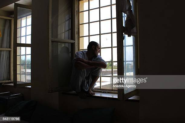 Afghan drug addicts seen at their beds meal in Jangalak hospital and shelter for drug addicts in Kabul Afghanistan on June 26 2016 In December 1987...