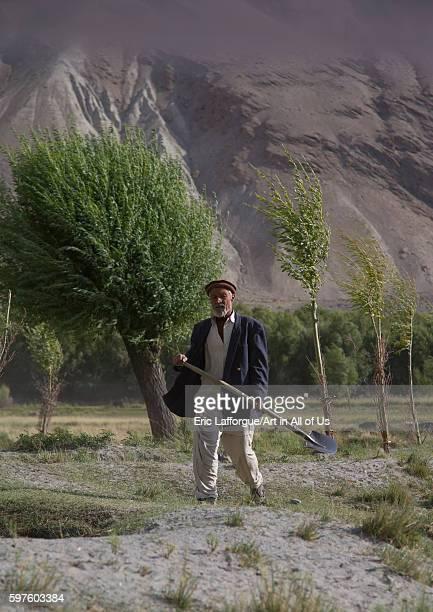Afghan farmer badakhshan province qazi deh Afghanistan on August 14 2016 in Qazi Deh Afghanistan