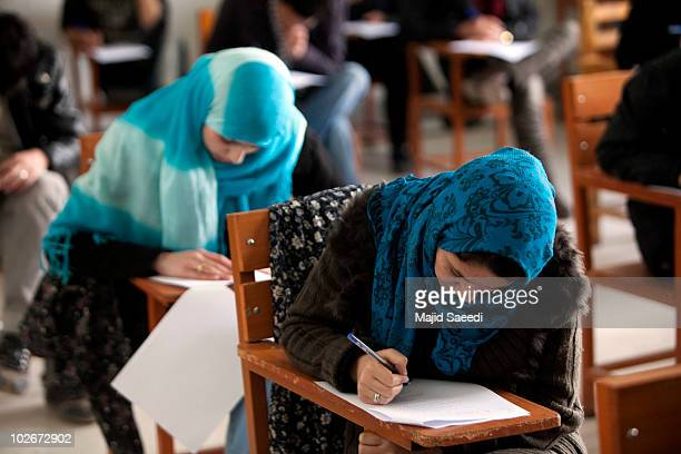 Afghan female students attend Kabul university on July 6 2010 in Kabul Afghanistan The change in the status of women in Afghanistan has changed since...