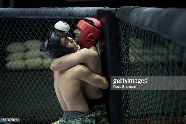 Afghan fighters are seen during the first amateur event at the Snow Leopard Fighting Championship ring on May 18 in Kabul Afghanistan Sports like...