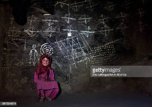 Afghan girl inside a traditional pamiri house decorated for nowruz badakhshan province qazi deh Afghanistan on August 14 2016 in Qazi Deh Afghanistan