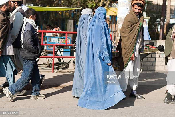 Afghan homme et ses deux wifes