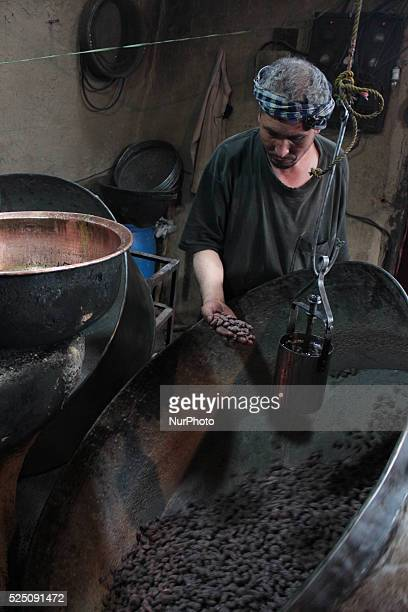 Afghan men work at a sweets factory in Kabul Afghanistan on October 202014