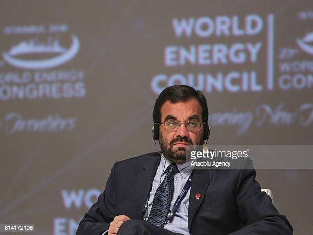 Afghan Minister of Water and Energy Ali Ahmad Osmani attends a session titled Ministerial dialogue Transition a country in a decade during the 23rd...