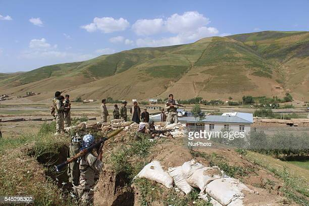 Afghan National Security Force during an military operation against talebans in Raghistan district Badakhshan on 3 July 2016