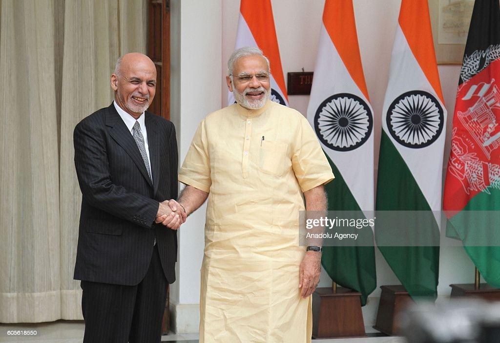 Afghan President Ghani in India : News Photo